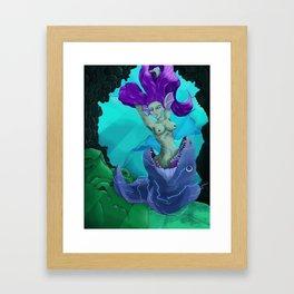 Deceitful Beauty Framed Art Print