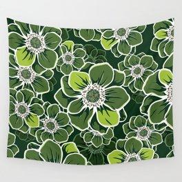 Mandala Flowers 4 Wall Tapestry