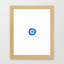 Single Evil Eye Amulet Talisman Ojo Nazar - on white Framed Art Print