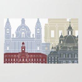Madrid V2 skyline poster Rug