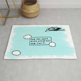 the sky is(n't even close to) the limit Rug