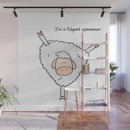 Fidget spinner sheep Wall Mural