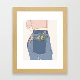 Pot Pants Framed Art Print