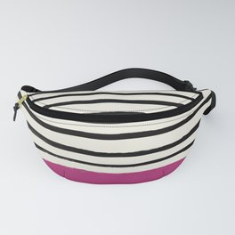 Raspberry x Stripes Fanny Pack