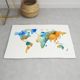 World Map Art - Map Of The World 14 - By Sharon Cummings Rug