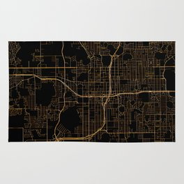 Black and gold Orlando map Rug