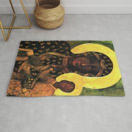 Virgin Mary Our Lady of Czestochowa Madonna and Child Jesus Religion Christmas Gift Rug