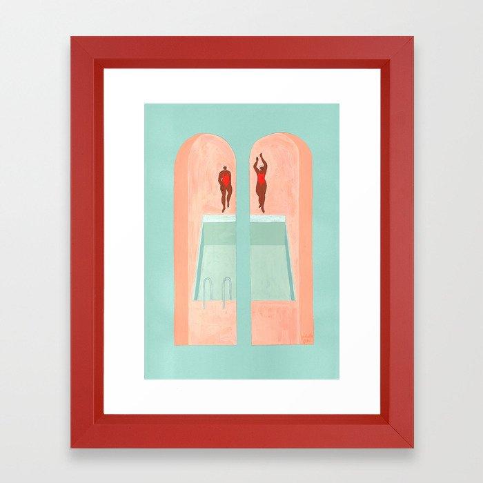 Les Nageuses Framed Art Print