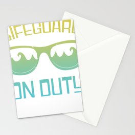 lifeguard water rescuer beach watch Stationery Cards