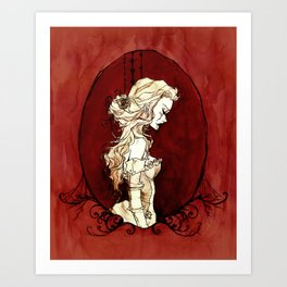 Lavinia Cameo Art Print