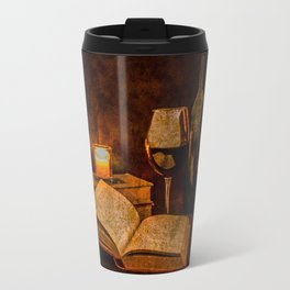 Wine and Reading by Candlelight Travel Mug