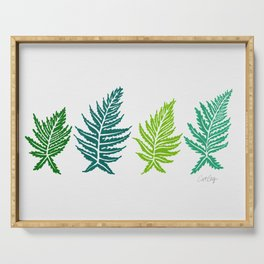 Inked Ferns – Green Palette Serving Tray