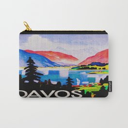Davos Switzerland - Vintage Travel Carry-All Pouch