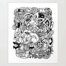 Mutant Pile-Up Art Print