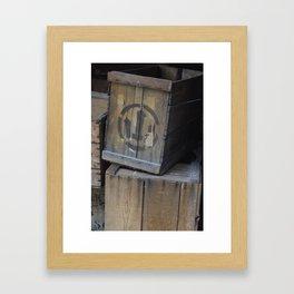 Vintage Wooden Wabi-Sabi Japanese Shipping Crates Framed Art Print
