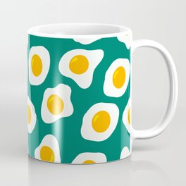 Eggs Pattern (Blue Green Color Background) Coffee Mug
