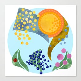Deconstructed Summer Whimsical Popart Summer Canvas Print