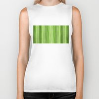 lime green Biker Tanks featuring Ambient 3 in Lime Green by Bruce Stanfield
