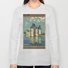 Normandy 01 - Vintage Poster Long Sleeve T-shirt