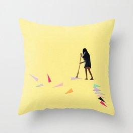 Swept Away Throw Pillow
