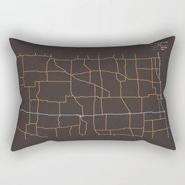 North Dakota Highways Rectangular Pillow