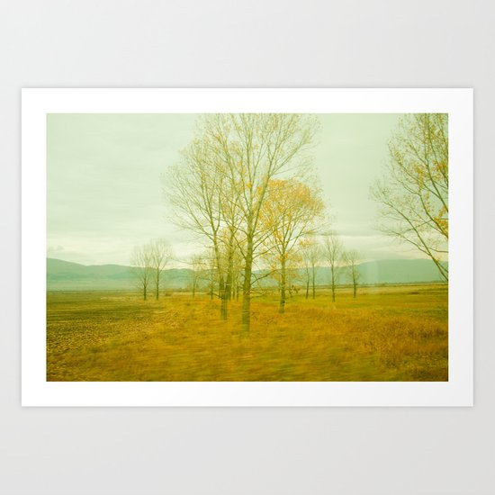 Yellow Morning Art Print