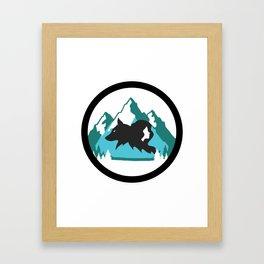 Goldilocks and the Wolf Framed Art Print