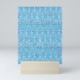 sarasa floral in azure Mini Art Print