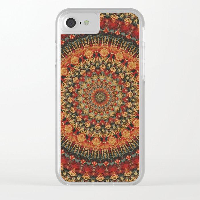 Mandala 563 Clear iPhone Case