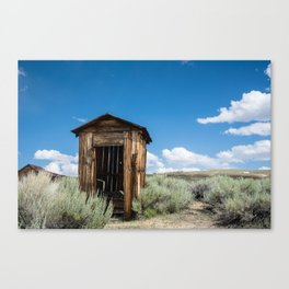 Lone Outhouse Canvas Print