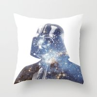 vader Throw Pillows featuring Vader by O   N   E