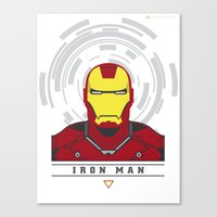 ironman Canvas Prints featuring IRONMAN by Nuthon Design