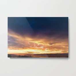 Sunset Port of Everett Metal Print