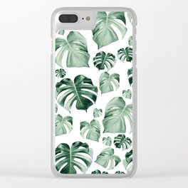 Tropical Monstera Pattern #2 #tropical #decor #art #society6 Clear iPhone Case