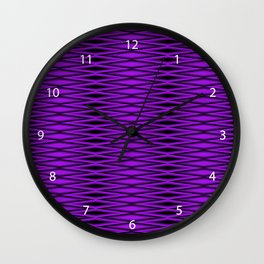 Untitled Puple Diamonds Wall Clock