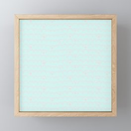 Merry aqua christmas - Funny abstract lines and dots on turquoise backround Framed Mini Art Print