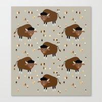 buffalo Canvas Prints featuring Buffalo by Heleen van Buul