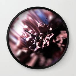 Abstract flower nature design intricate pattern texture background Wall Clock