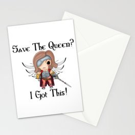 MK Save the Queen (Black) Stationery Cards