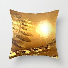 golden landscape. Throw Pillow