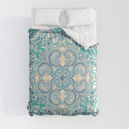 Gypsy Floral in Teal & Blue Comforters
