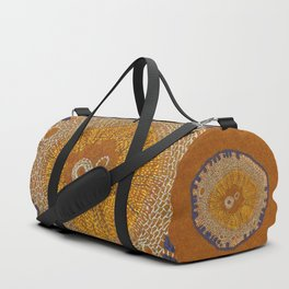 Growing - ginkgo - plant cell embroidery Duffle Bag