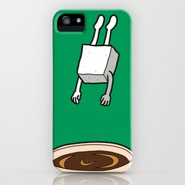 Sugar Jumps Into Coffee iPhone Case