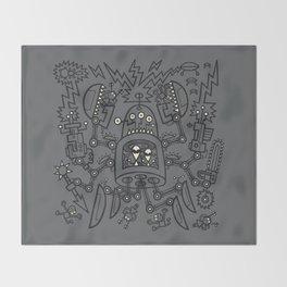 Evil Crabkillbot from Crab Nebula Against Humanity Throw Blanket