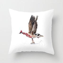 Canada Goose Figure Skating Throw Pillow