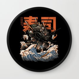 The Black Sushi Dragon Wall Clock
