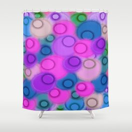 Infestation Of Circles Shower Curtain