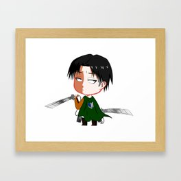 "Chibi Captain Levi (Rivaille) from ""Attack On Titan""/""Shingeki No Kyojin"" Framed Art Print"