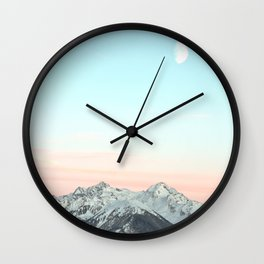 Mountains Landscape Wall Clock