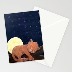Sleepy Cat n Mouse Stationery Cards